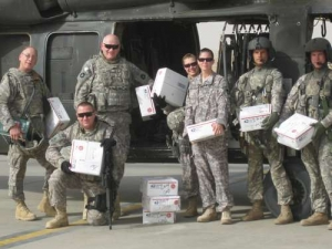 Minnesota Unit poses with received AnySoldier packages October 2009, Afghanistan.